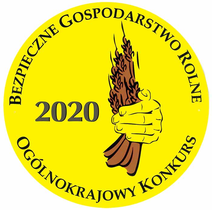 """grafika logo konkursu """"Bezpieczne gospodarstwo rolne"""""""