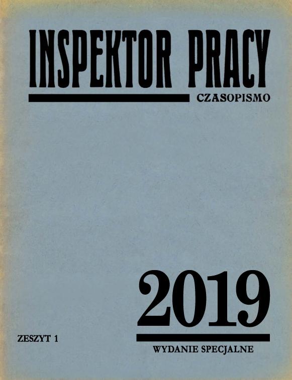 Inspektor Pracy nr 1/2019