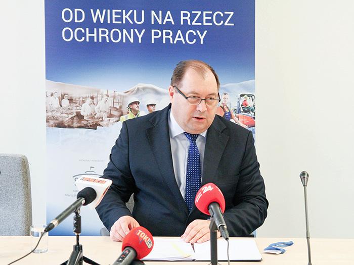Wiesław Łyszczek na konferencji prasowej